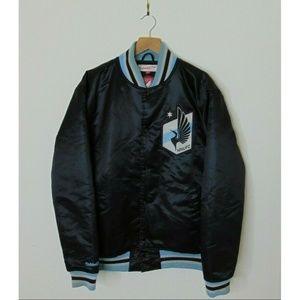 Mitchell & Ness M Minnesota Bomber Jacket Black
